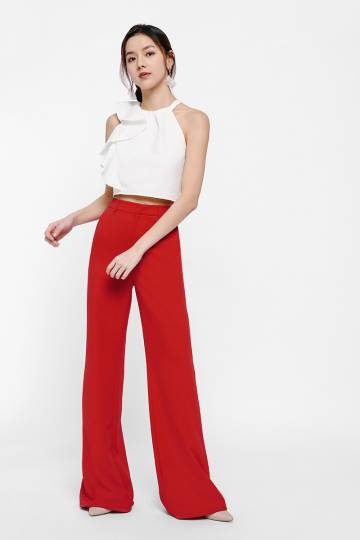 Beatty Ruffle Sleeve Crop Top