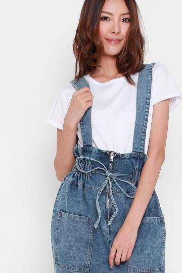 Zibeon 2 in 1 Denim Jumpsuit Set