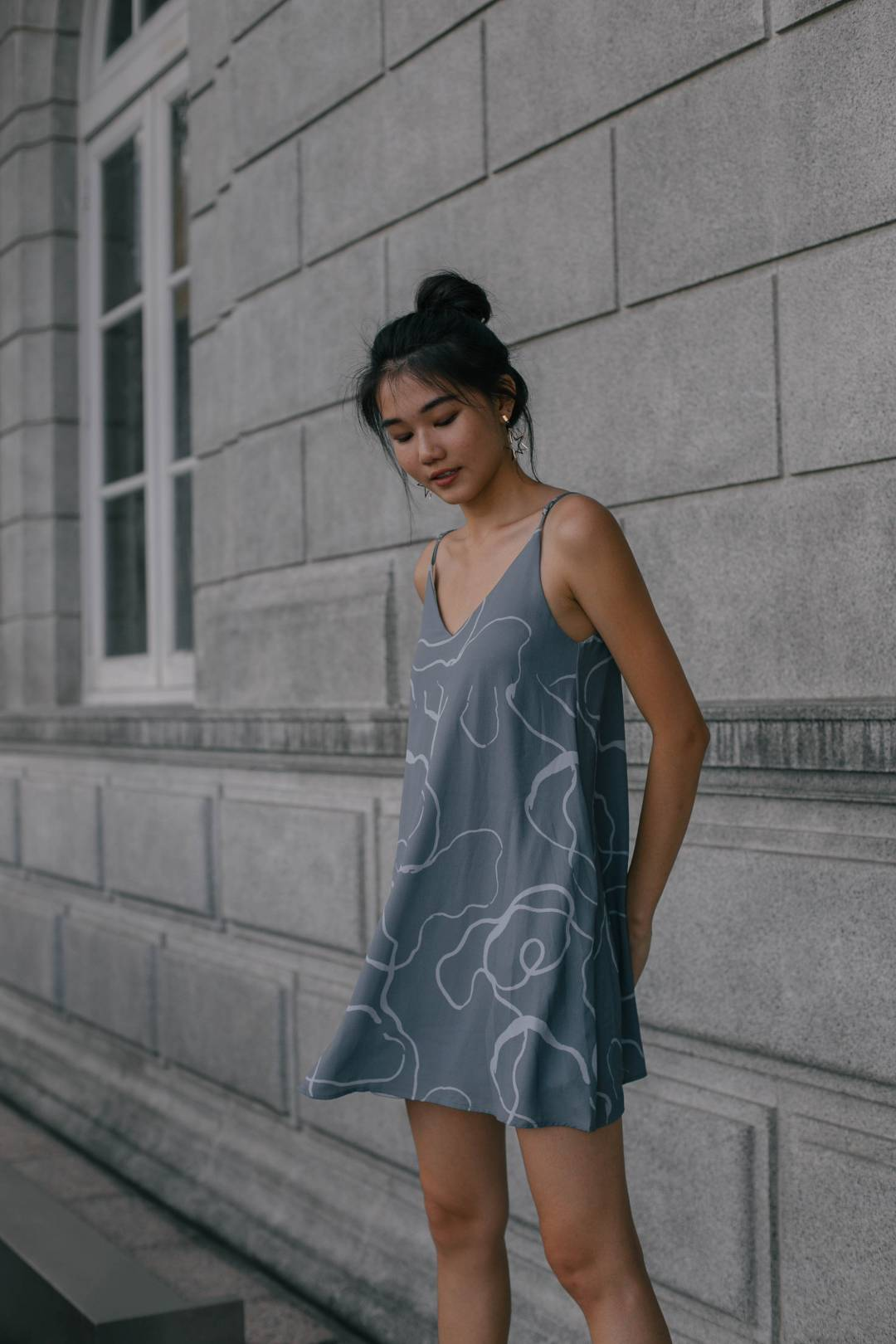 *Back Order* Brain Matter Cami Dress in Airforce Blue