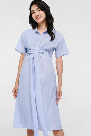 Rubina Tie Front Midi Dress