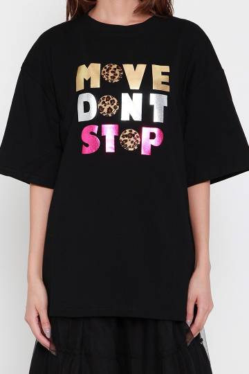 Move Don't Stop Tee in Black