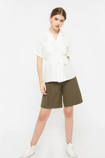 Ayle Button Collared Top