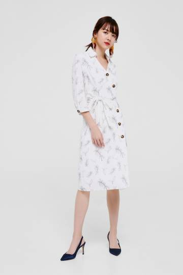 Tinlay Button Down Shirt Dress