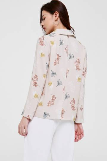 Cherelle Printed Relaxed Fit Blazer