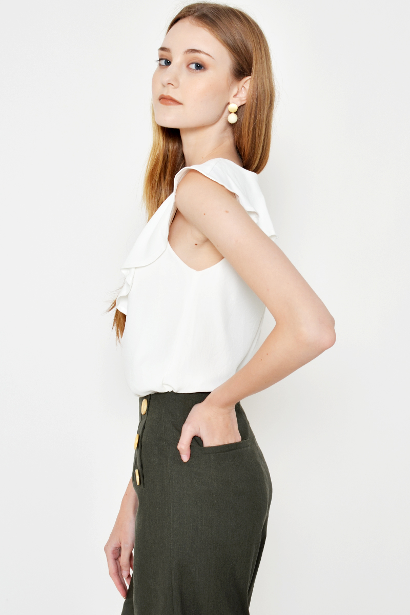 CHARLIE BUTTON CULOTTES OLIVE