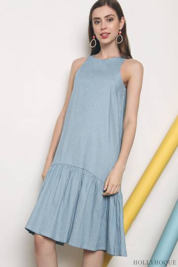 Damien Peplum Midi Dress Light