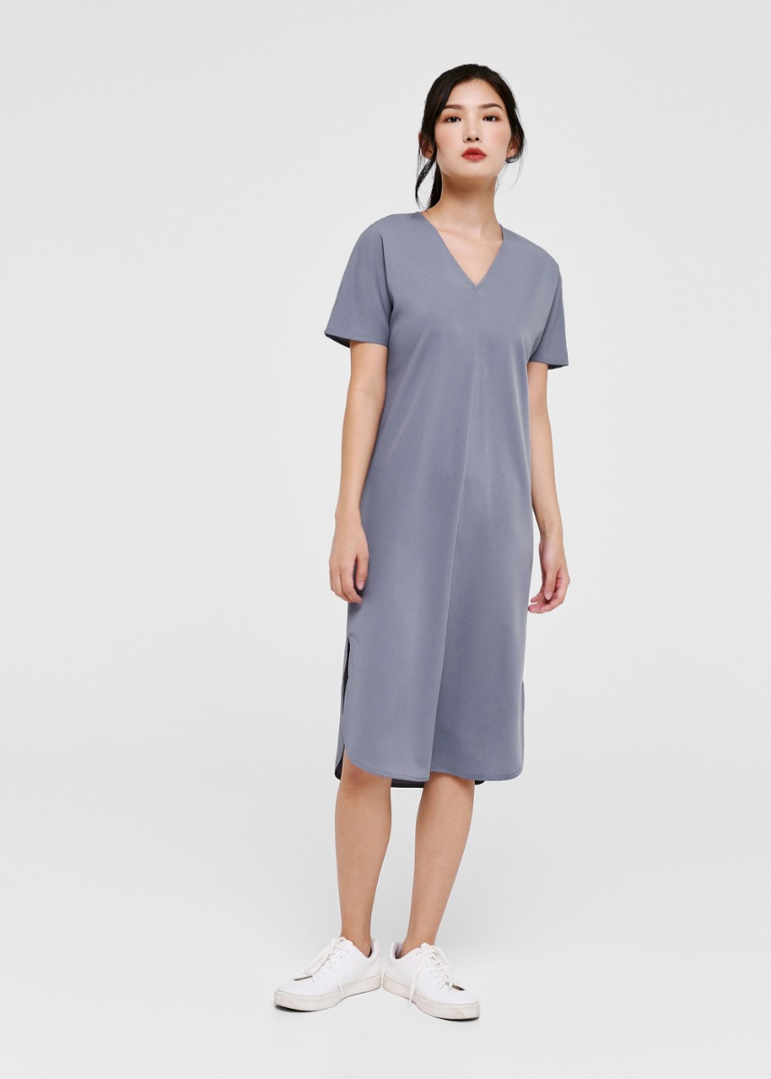 Adelene Midi T-shirt Dress