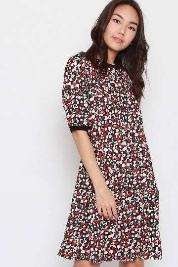 Meisa Printed Hearts Dress