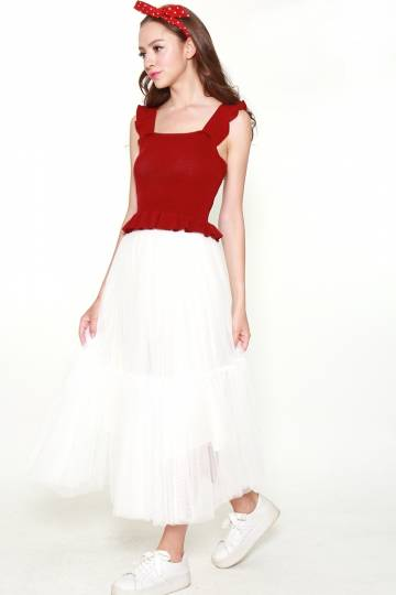 9394 TIERED TULLE SKIRT