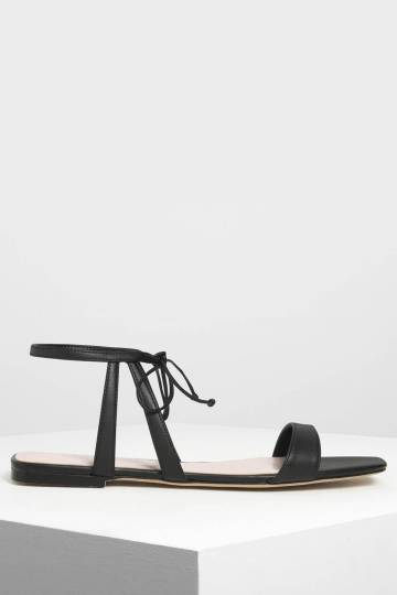 Tie Front Open Toe Sandals
