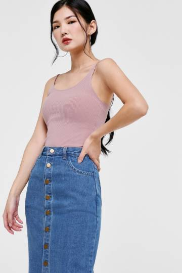Helen Ribbed Camisole Top