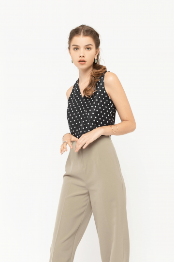 Zenva Polka Dot Top
