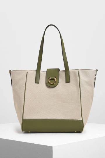 Canvas Trapeze Tote Bag