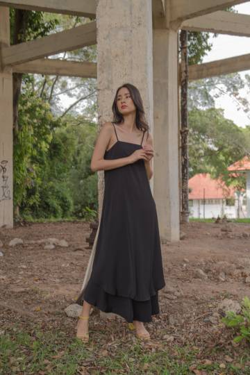 Swish Swish Maxi in Black