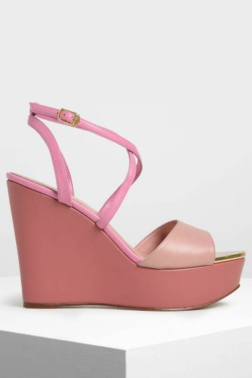 Criss Cross Ankle Strap Wedges