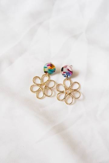 Abstract Flower Earstuds