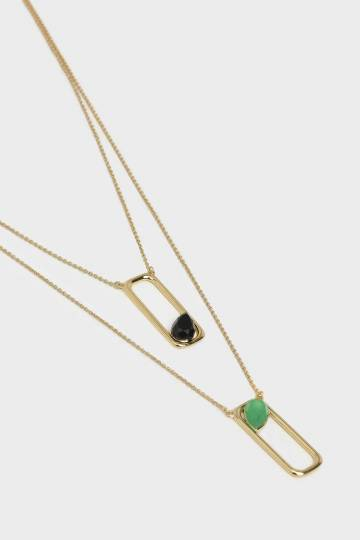 Green Agate Layered Necklace