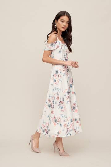 MEGHAN Maxi Dress in Floral, By LVG