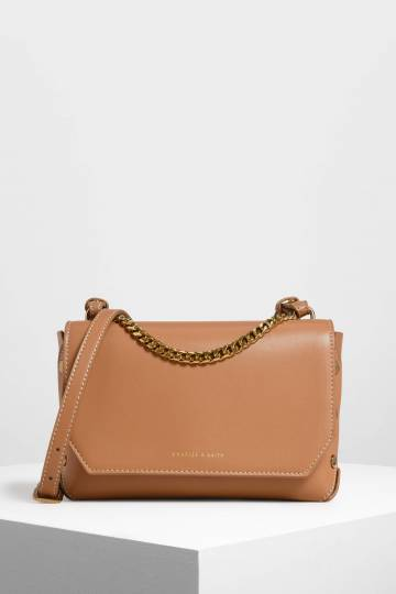 Chain Handle Shoulder Bag