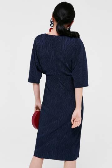 Janiya Dobby Dot Midi Dress