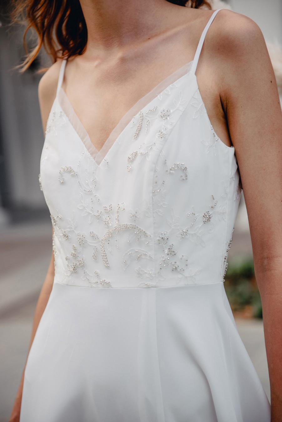 Promise Me Stardust Beaded Dress (White)