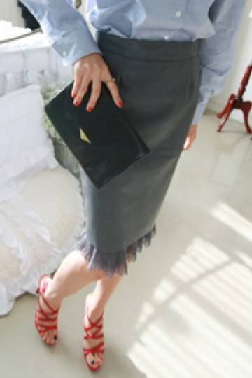 Pencil Skirt (Grey)