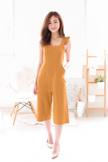 Jonah Flutter Jumpsuit in Honey