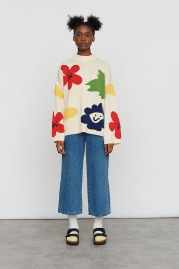 Lazy Oaf Flower Bed Knit Sweater
