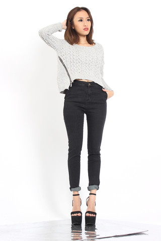 Fale Zip Knit Top