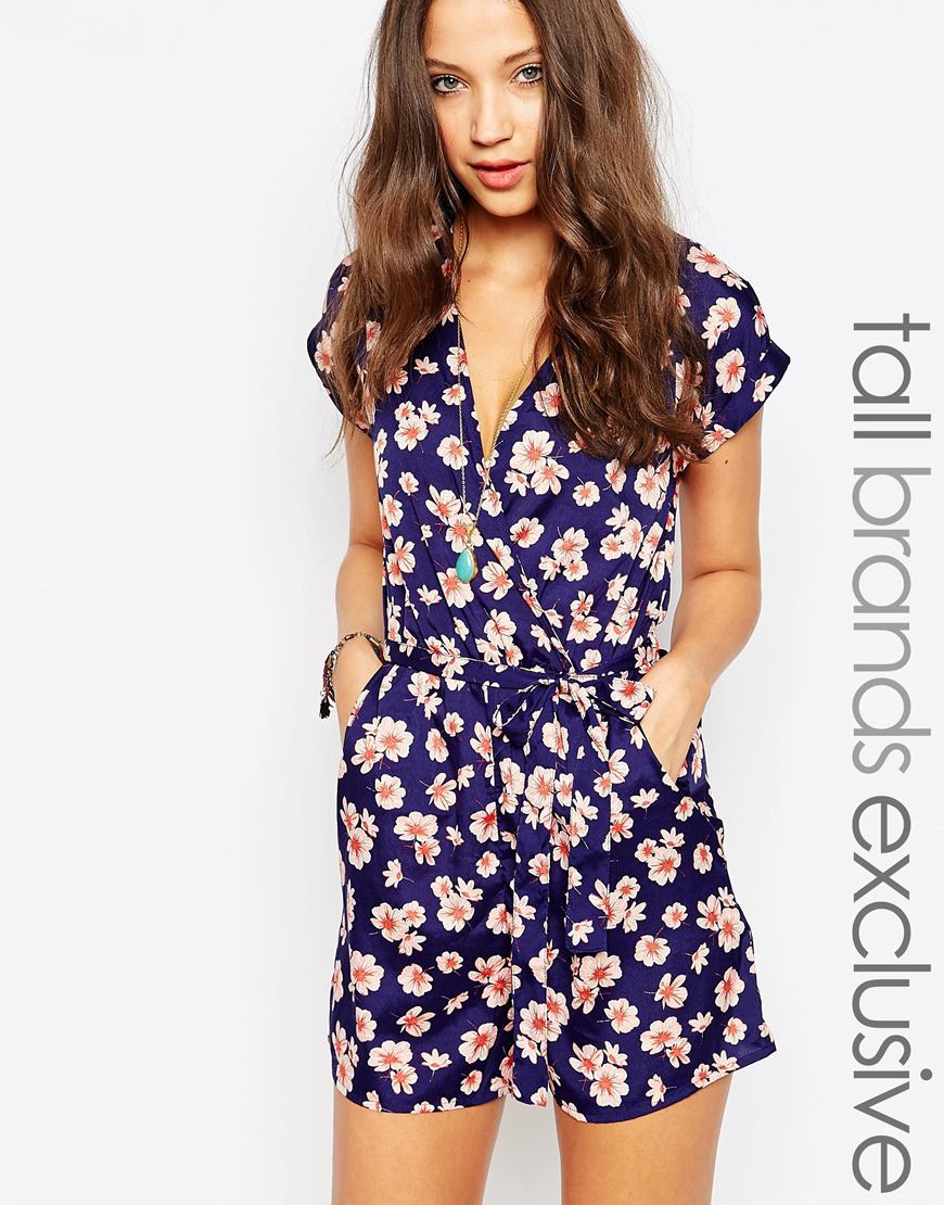 592edeef1a New Look Floral Print Wrap Dress