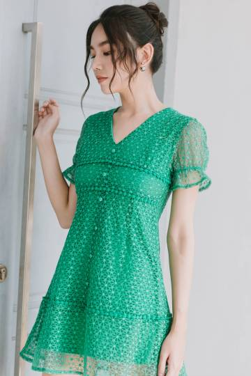 Clover Crochet Mini Dress