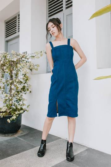 Demi Denim Midi Dress