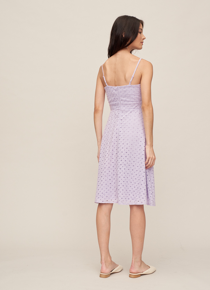 KHLOE Knotted Dress in Lavender, By LVG