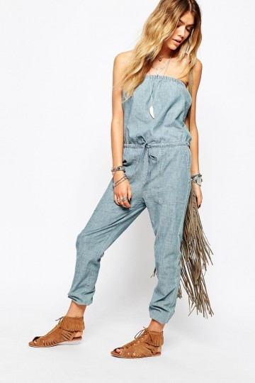 5777703b724 Denim   Supply By Ralph Lauren Chambray Bandeau Jumpsuit - ShopperBoard