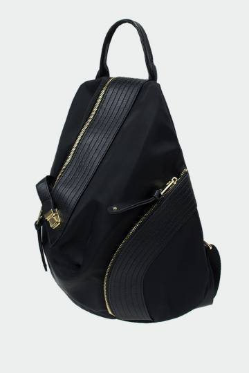 Leather Panel Backpack
