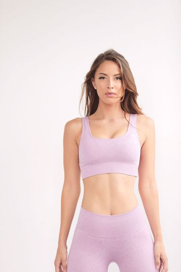 Lavender Seamless Ribbed Top