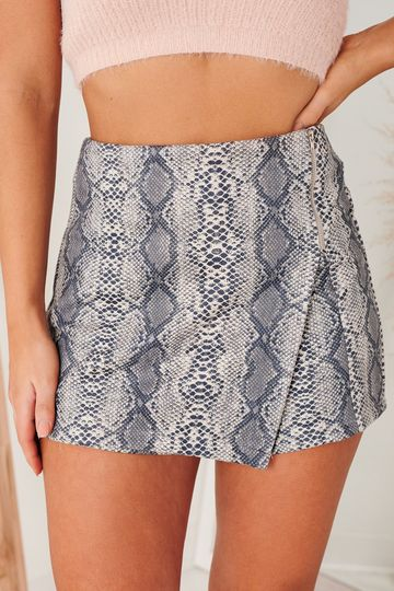 Snaking Our Way Skort (Grey)
