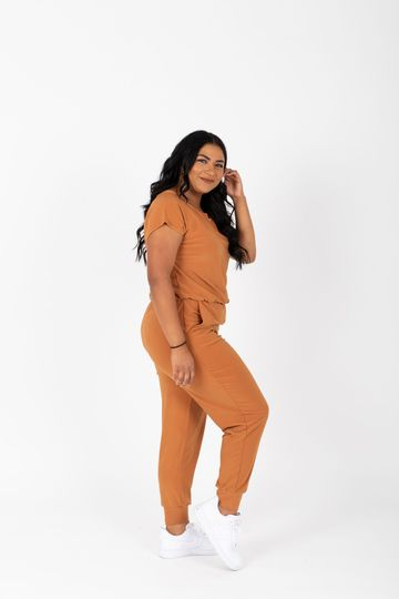 The Vernon Soft Casual Jumpsuit in Camel