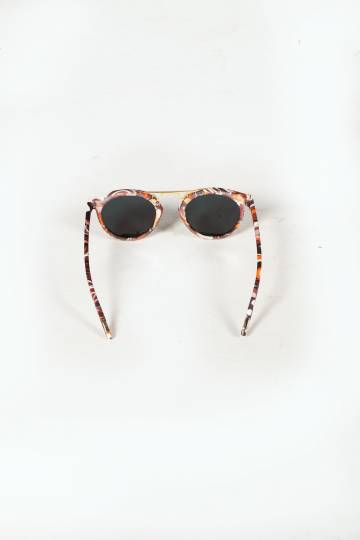 Kris Abstract Sunglasess (Beige)