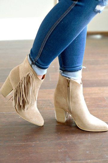 Made For Me Booties - Taupe