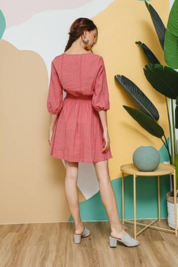 Eyelet Naturale Dress Tea Rose