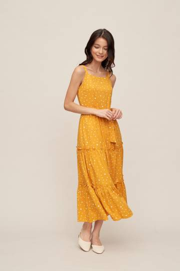 WYNNIE Maxi Dress in Sunshine Yellow
