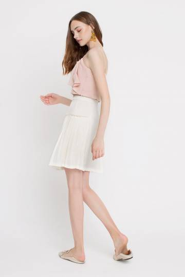 Side Pleated Skirt