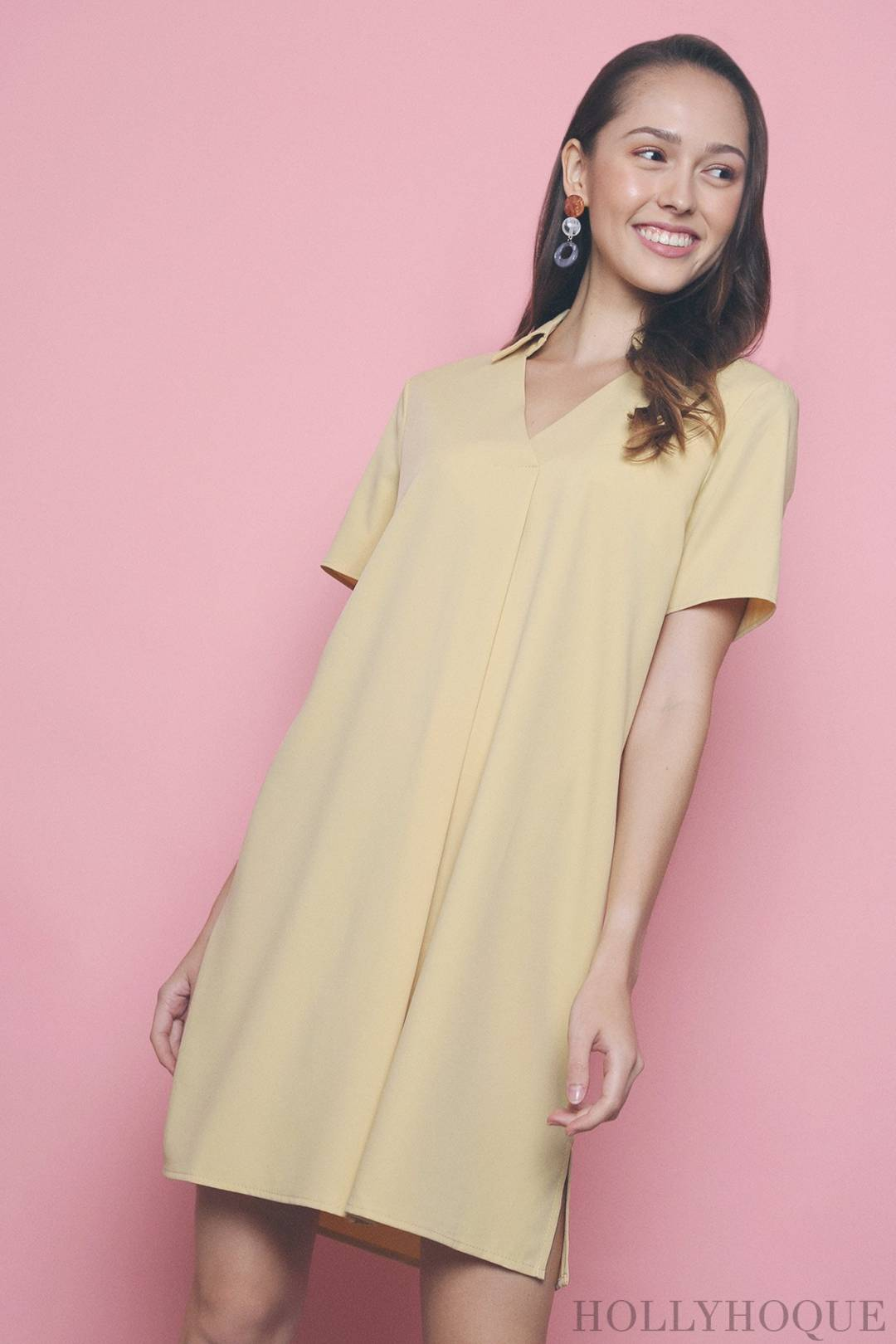 Mavis Shirt Dress Yellow