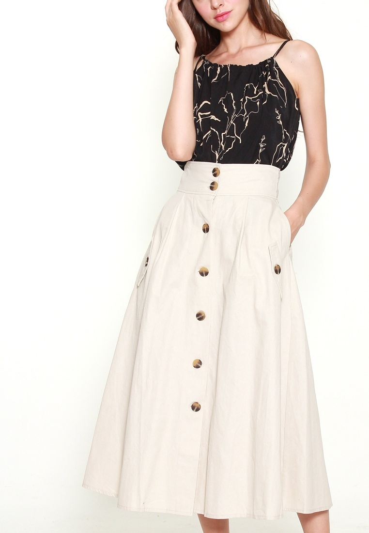 9422 BUTTON FRONT SKIRT