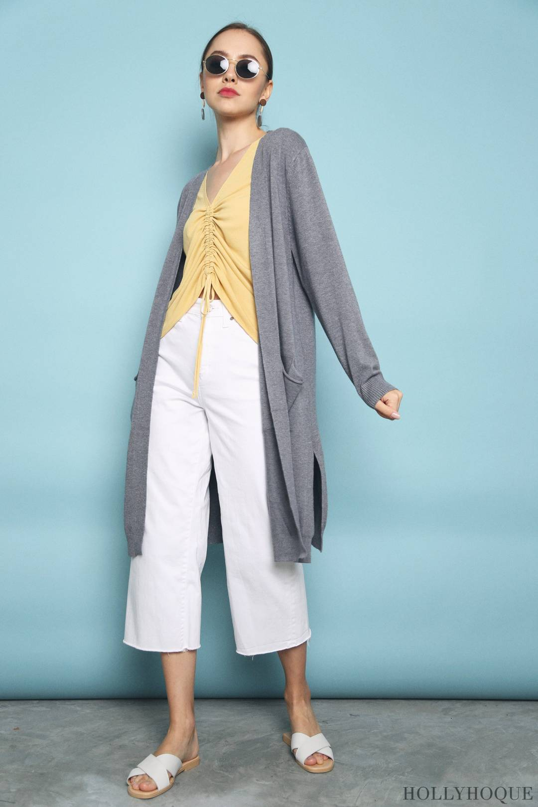 Scott Pocket Cardigan Grey (Restock)