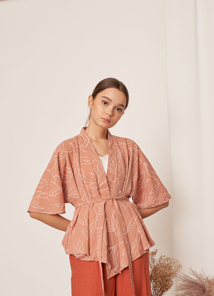 THEIA Kimono in Coral Pink, By LVG