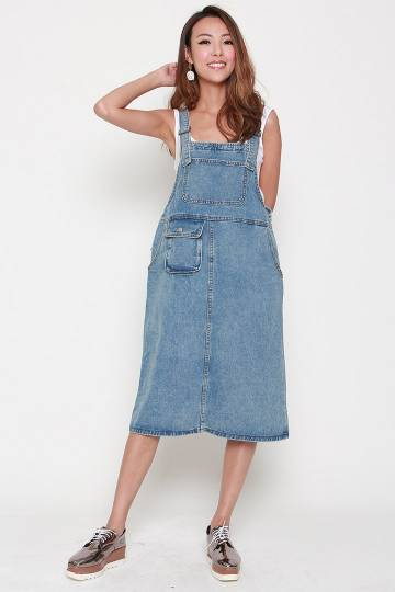 Yingluo Denim Pinafore Dress