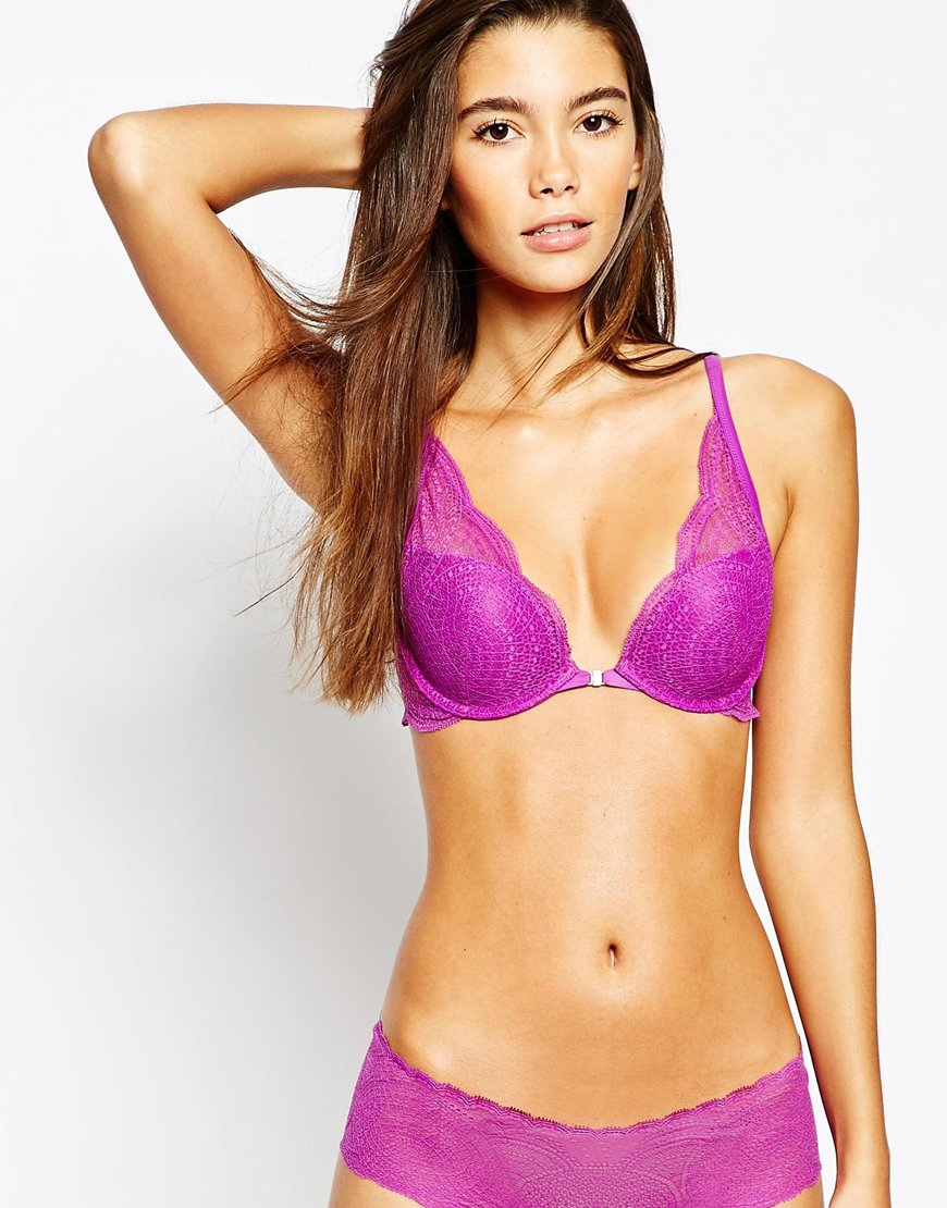 9d8fd5784e53a Calvin Klein Perfectly Fit Memory Touch Plunge Push Up Bra. From ASOS