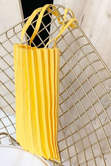 Last Chance - Yellow Pleated Bag